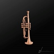 Picture of Music Pin Trumpet Copper