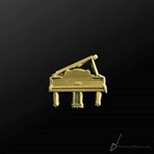 Picture of Music Pin Grand Piano Gold