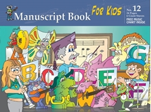 Picture of Manuscript Book 12 - GIANT 6 Staves for Kids 32 Pages