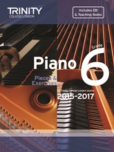 Picture of Trinity Piano Exam Pieces & Exercises 2015-17 Grade 6 Bk/Cd
