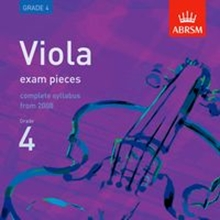 Picture of ABRSM Viola Exam Pieces From 2008 Grade 4 CD