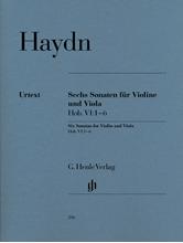 Picture of 6 Sonatas Hob VI:1-6 for Violin and Viola