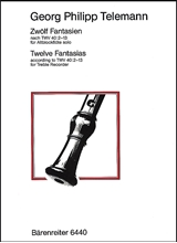 Picture of 12 Fantasias for Treble Recorder After TWV 40:2-13